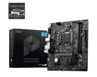 MSI H510M PRO DDR4 M2 PCIe NVME m.2 HDMI DP 1200P.11.NESİL