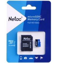 Netac 64GB MicroSDHC U3/C10 NT02P500STN-064G-R USB BELLEK