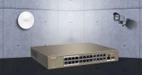 TENDA TEF1126P-24-250W 24 PORT POE 10/100Mbps +1 SFP SWITCH